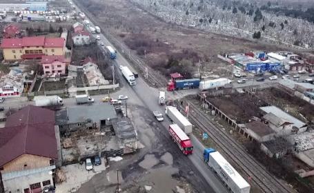 CNAIR a început demolările din zona Domnești, pentru a construi un pasaj peste Centură
