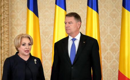 Klaus Iohannis si Viorica Dancila