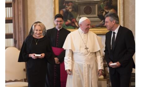 Premierul Viorica Dăncilă, întrevedere cu Papa Francisc la Vatican