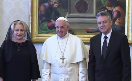 viorica dancila, biserica catolica, papa francisc, vizita romania,
