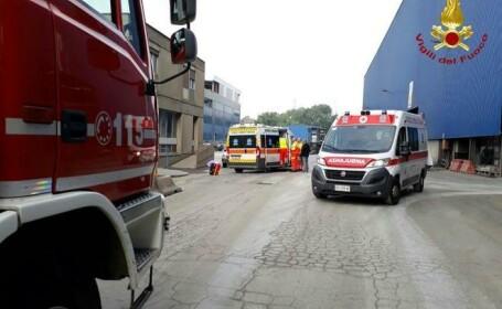 Un român din Italia se zbate între viaţă şi moarte, după ce a fost acoperit de oţel topit