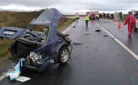 3 morți și 2 răniți, în urma unui accident rutier în Olt