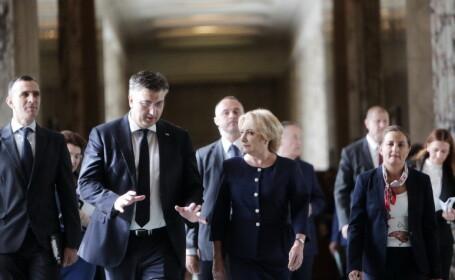 """Dăncilă, după întâlnirea cu premierul croat: """"Viziunea noastră este una proeuropeană"""""""