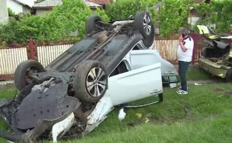 Accident în lanţ, pe o şosea din Dâmboviţa. \