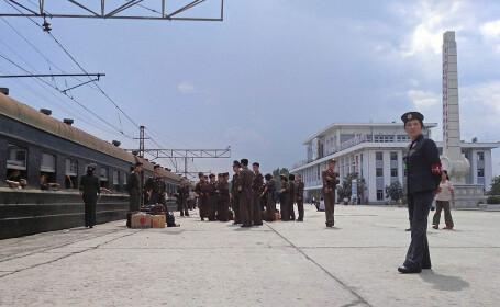 tren Coreea de Nord