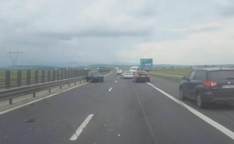 Patru răniți, în urma unui accident rutier la ieșirea spre Ocna Sibiului