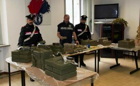 Şofer român de TIR, prins în Italia cu o încărcătură uriaşă de droguri