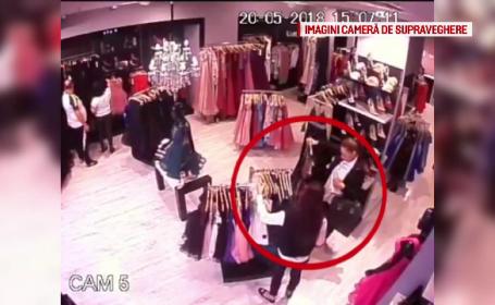 Două femei din Bacău, căutate de polițiști după ce au furat rochii