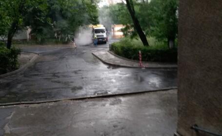 asfaltare, ploaie, sectorul 6,