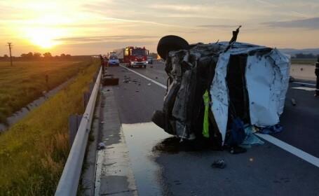 Un şofer din Republica Moldova a murit într-un accident pe autostrada A1, între Sebeş-Deva