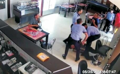 Conflict violent într-un bar din Vâlcea, după ce un adolescent este prins de polițiști cu o bere. VIDEO
