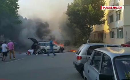 incendiu mașină