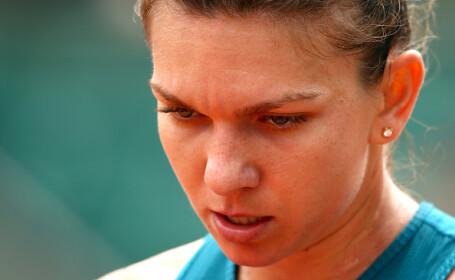 Reacția nervoasă a Simonei Halep, atunci când era la un pas să piardă primul set la 0 la Roland Garros