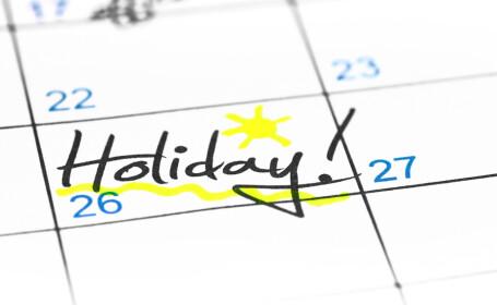 Zile libere legale 2019. Când avem următoarea minivacanță