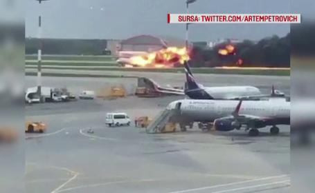 Filmul accidentului aviatic din Rusia în care au murit 41 de persoane