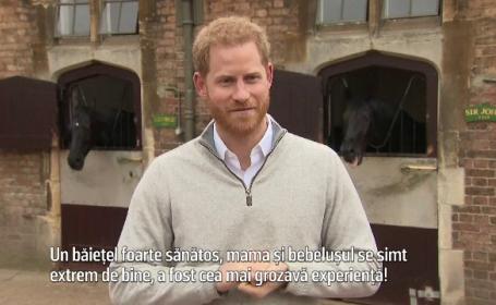"""Mărturiile Prințului Harry, după nașterea fiului său: """"S-a născut la câteva zile după termen"""""""