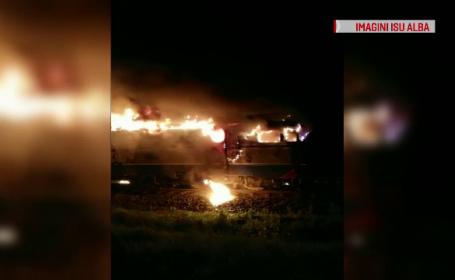 Reacția unui mecanic după ce a văzut că locomotiva unui tren a luat foc