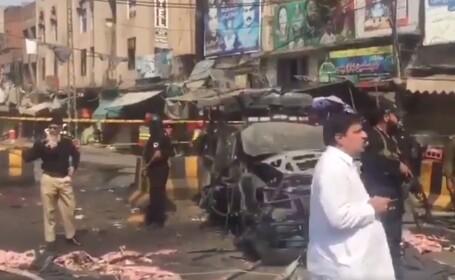 Explozie în apropierea unui templu din Pakistan. Mai multe persoane au murit