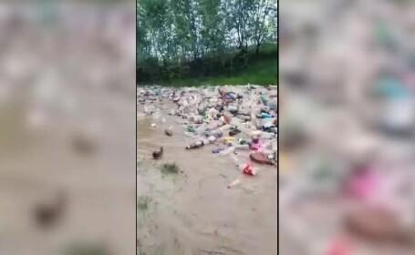 Reacția ministrului Apelor după viitura cu tone de gunoaie din Argeș. Primarii își pasează vina