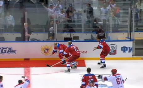 Momentul jenant în care Vladimir Putin a luat o trântă pe gheață. Reacția liderului rus