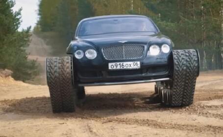 Rușii au transformat un Bentley într-un tanc