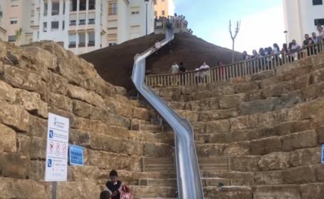 Cel mai mare tobogan din Spania, închis la o zi după inaugurare, după rănirea unor oameni