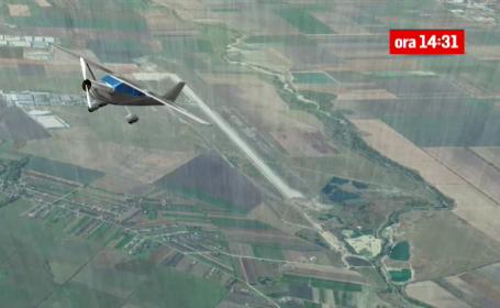 animatie grafica prabusire avion