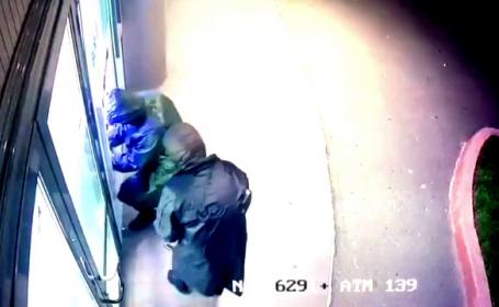 Filmul jafului de la bancomatul din Capitală. 100.000 de euro, furați în 10 secunde