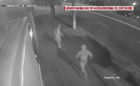 Momentul șocant în care un bărbat este ucis într-un scandal iscat pe o stradă din Galați