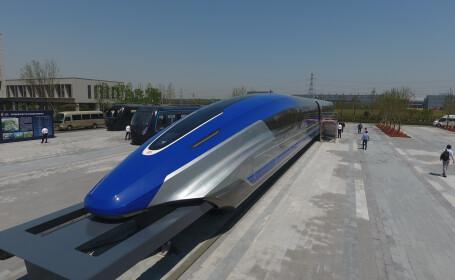 China a prezentat trenul Maglev care circulă cu 600 km/h - 1