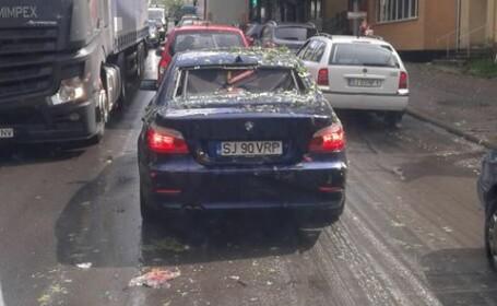 GALERIE FOTO: distrugeri mari provocate de grindină în Sălaj