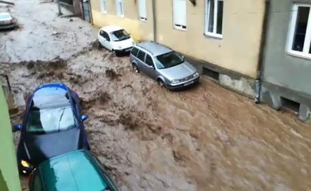 Orașul din România care s-a scufundat în apă după o ploaie torențială