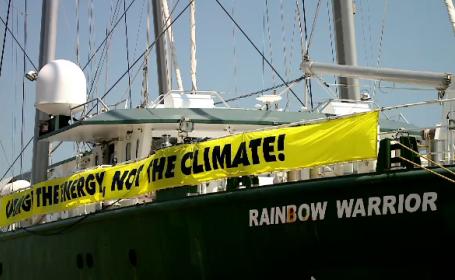 Nava-fanion a Greenpeace, la Constanța