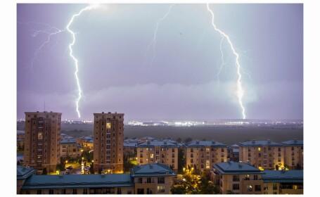 Furtună electrică în București