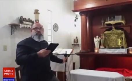 Preot surprins în timpul slujbei de un cutremur puternic