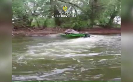 Incident în Deltă. Polițist târât zeci de metri prin apă, după ce a prins 2 braconieri