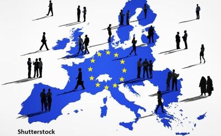 Harta UE, populatie - Shutterstock
