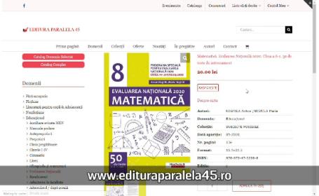 (P) Editura Paralela 45 aduce o culegere de teste pentru Evaluarea Naţională 2020 conform programei speciale