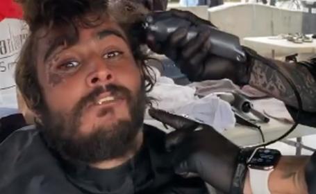Transformarea spectaculoasă a unui bărbat fără adăpost. A fost tuns și bărbierit. VIDEO