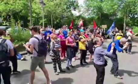 protest muncitori români germania