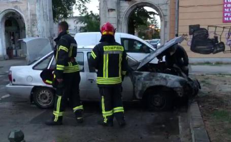 Mașină arsă
