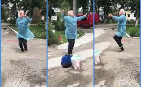 Un bărbat din Gorj dansează după ce a ieșit din spital vindecat de Covid