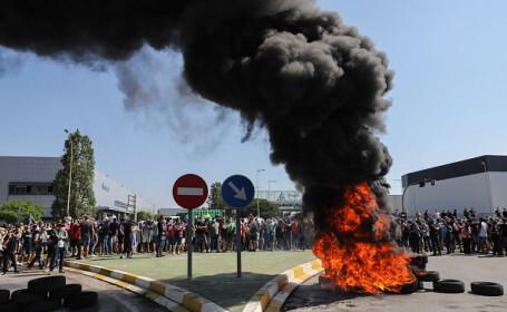 protest barcelona nissan