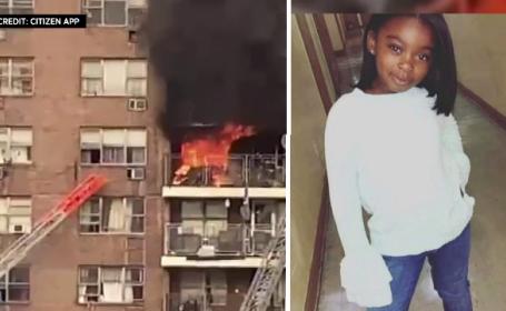 O fetiță de 8 ani a supraviețuit miraculos după ce s-a aruncat de la etajul 5, ca să scape dintr-un incendiu