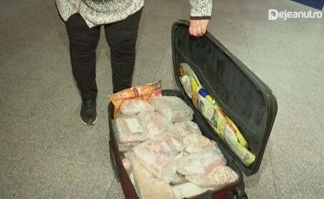 Femeie oprită pe aeroportul din Cluj pentru că avea 42 de kg de carne de miel, drob și slănină în bagaj