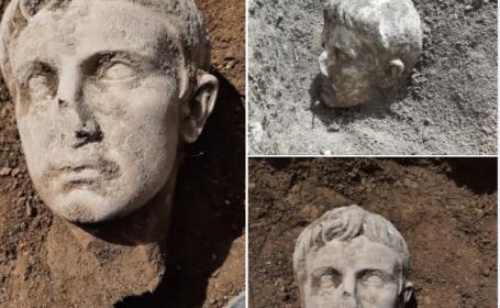 Descoperire uimitoare în Italia. Cum arată capul de marmură al unui mare împărat roman