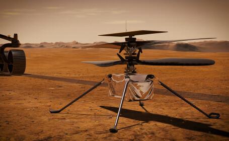 Sunetul elicopterului Ingenuity, aflat pe Marte, înregistrat pentru prima dată. VIDEO
