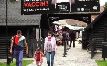 Maratonul vaccinării, în țară. La castelul Bran s-au vaccinat și oaspeți din străinătate