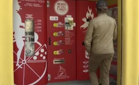 Automatul care coace pizza în trei minute, instalat de un italian. Cât costă una