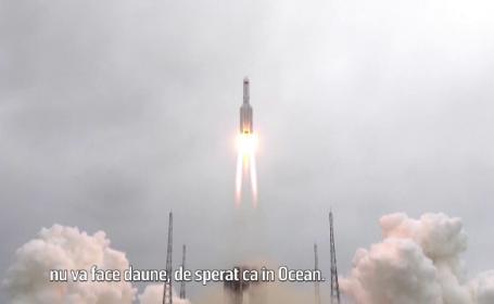 Resturile rachetei chinezești au ajuns duminică în Oceanul Indian. Mare parte din componente au ars la intrarea în atmosferă